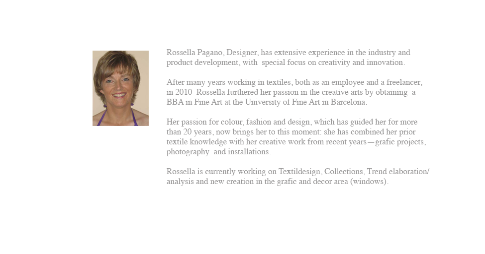Rossella Pagano Design: ABOUT ME