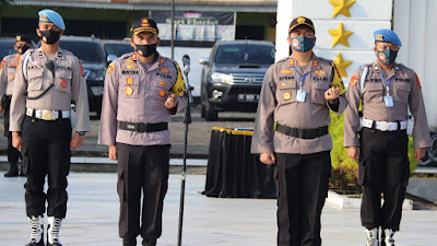Perayaan Hut Bhayangkara Ke-74,Kapolres Beserta Jajaran Polres Mura Ziarah Di TMP Patria Bukit Sulap