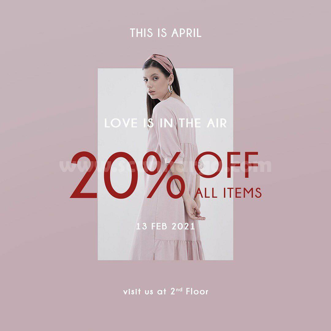 This Is April Love Is In The Air! Disc. 20% Off All Items