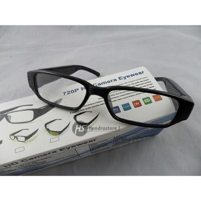 Spy Cam Kacamata Bening - Kamera Pengintai Murah