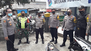 Aparat Gabungan Polsek Soreang Polresta Bandung Kembali Giat Pendisiplinan Prokes