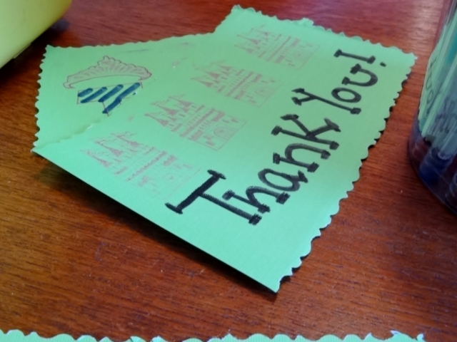 Thank you card #craft #paper #stamps #pens