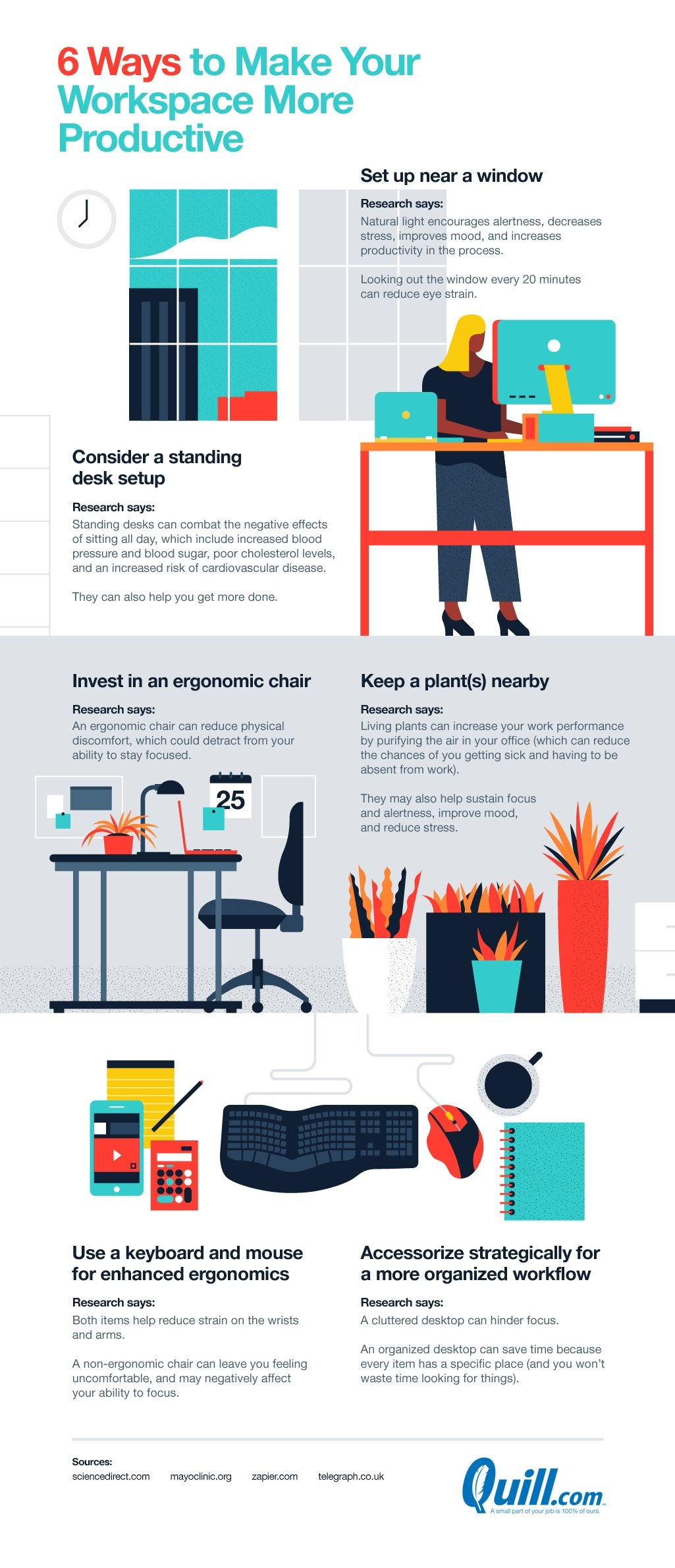 What is the best desk setup for productivity? #infographic