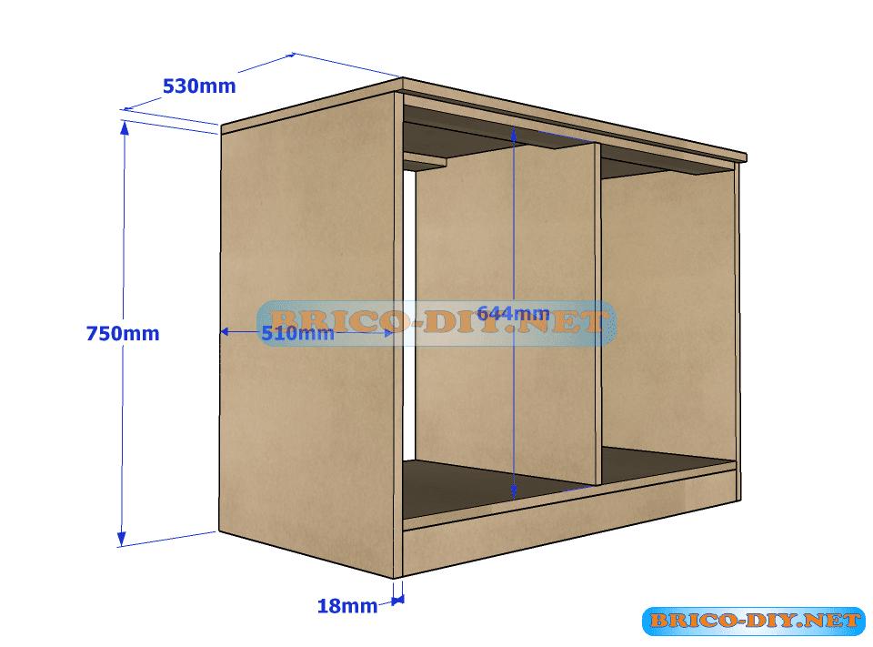 Plano y medidas como hacer una comoda con gavetas de mdf - Como hacer puertas de armario ...