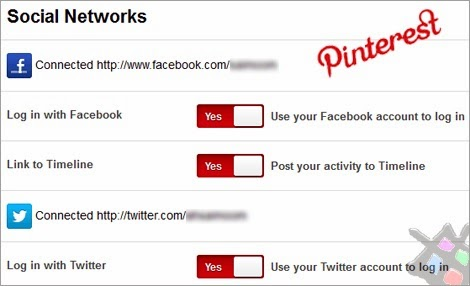 Pinterest third party linking