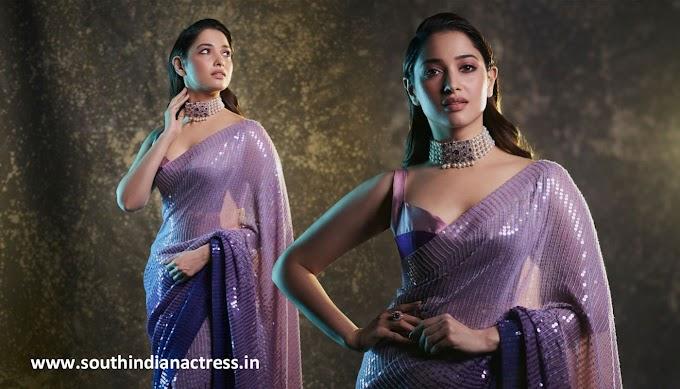 Actress Tamannaah Bhatia saree photos at Aha An Evening