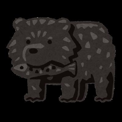 木彫りの熊のイラスト