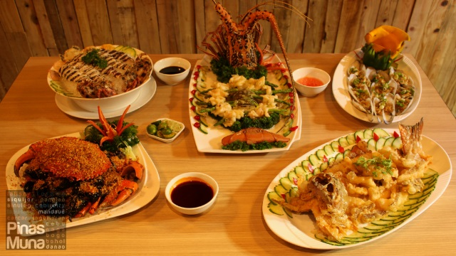 a la carte dishes at Isla Sugbu Seafood City Cebu