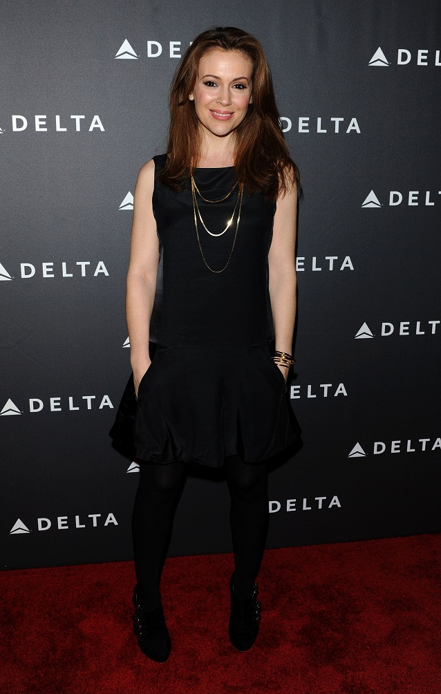 Alyssa Milano - Delta Airlines GRAMMY Week LA Reception (Feb. 7) 2013