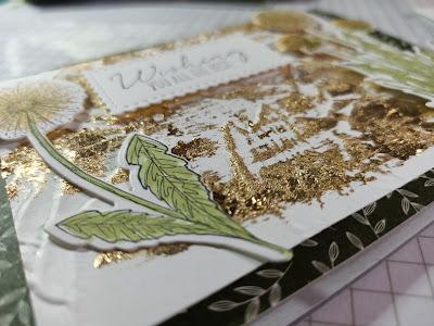 Gilded leafing detail