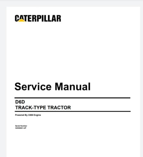 Service Manual Dozer Cat D6D Track-Type Tractor 1