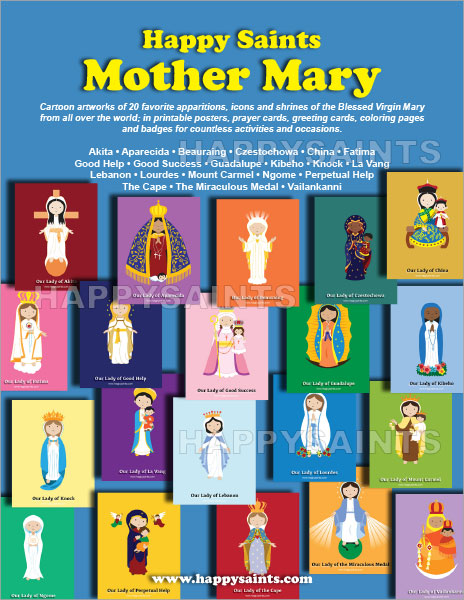 Preview Pages From Happy Saints Mother Mary Back To EBooks Catalog