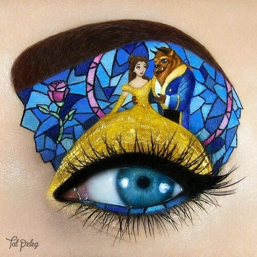 11-Beauty-and-the-Beast-Tal-Peleg-Eye-Make-Up-Art-Drawings-www-designstack-co