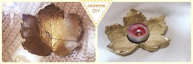 Jesienne DIY : świecznik i miseczka na biżuterię