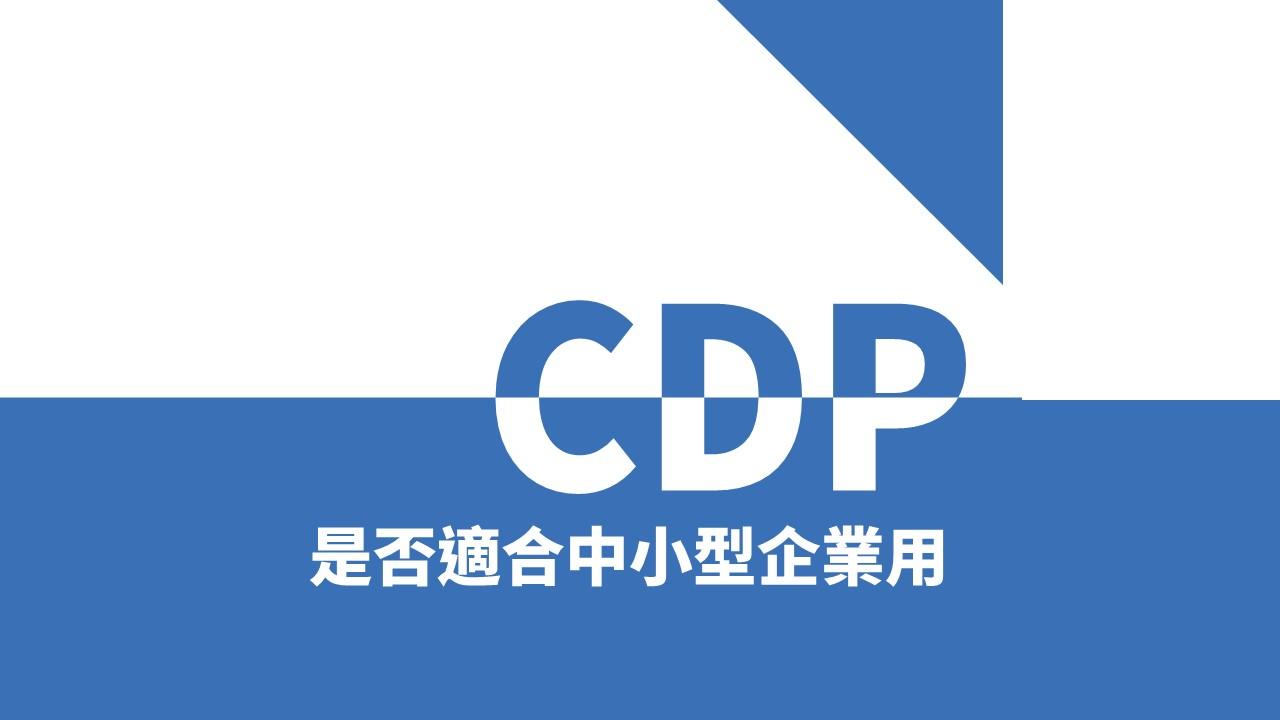 CDP 是什麽   是否適合中小型生意使用