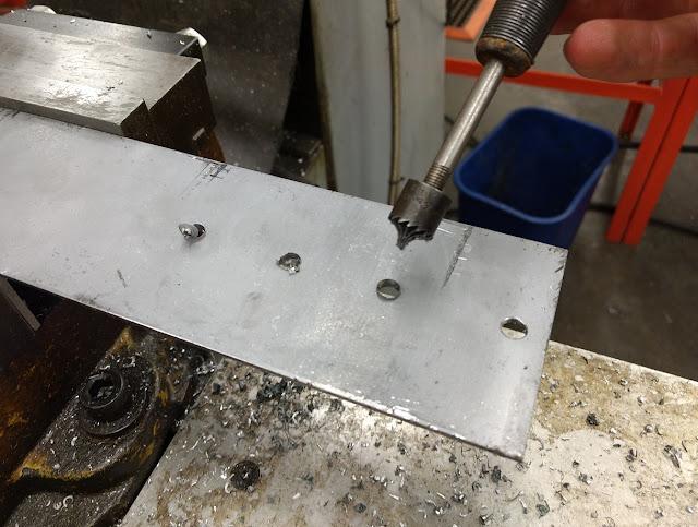 using nice deburring tool to debur holes