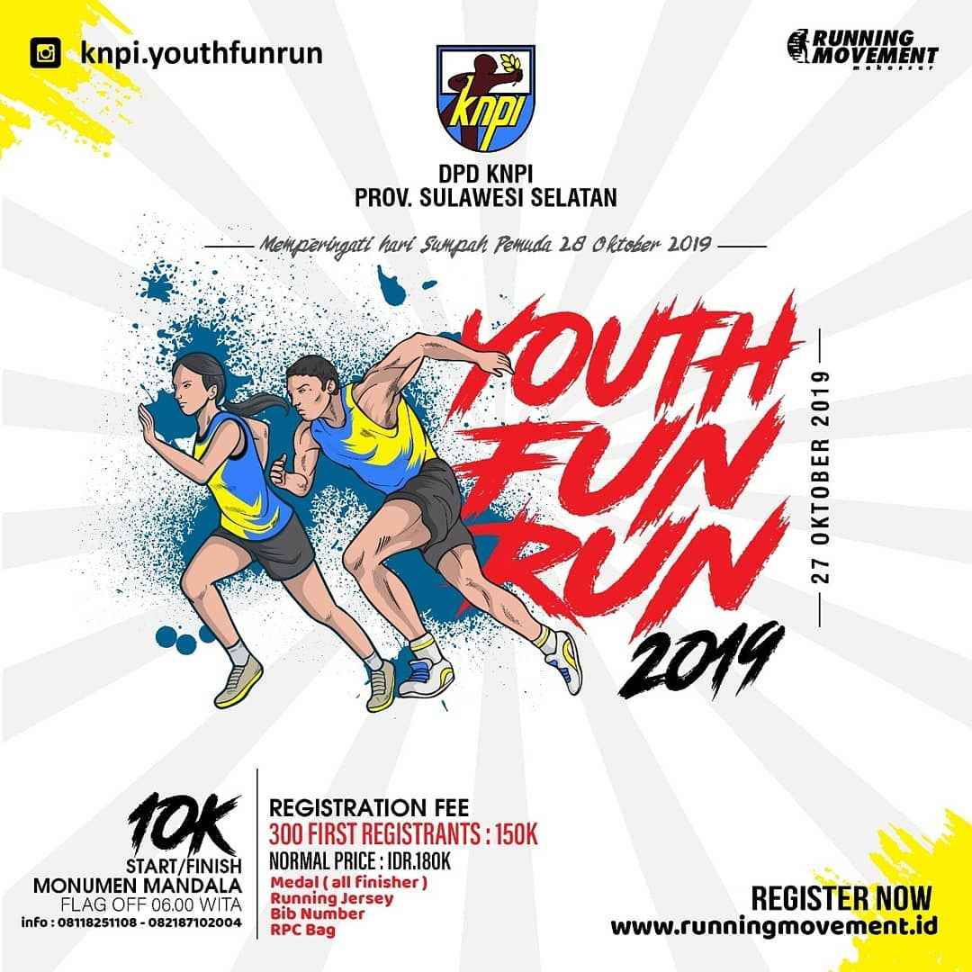 KNPI Youth Fun Run - Sulsel • 2019