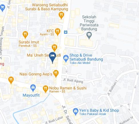 Map Letak Hotel Kytos Bandung