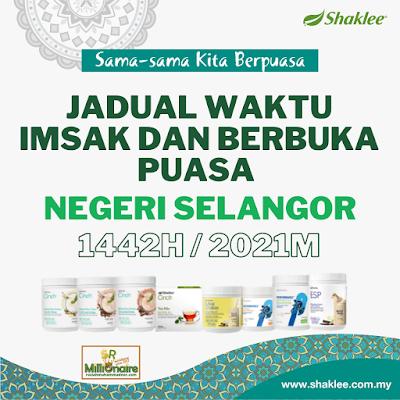 Jadual Waktu Imsak Dan Berbuka Puasa Negeri Selangor 1442H