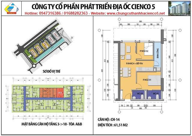 Sơ đồ thiết kế căn 14 chung cư B2.1 HH02A&B Thanh Hà Cienco 5