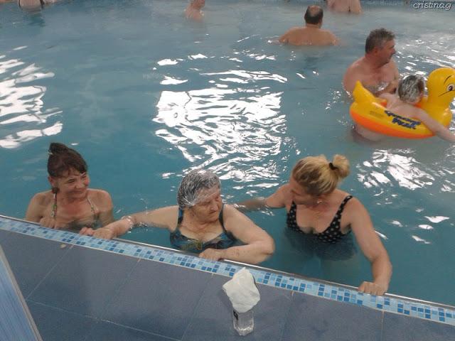 People in a salty water pool