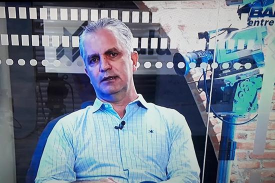 Ulisses no programa Band Entrevista. Café com Jornalista