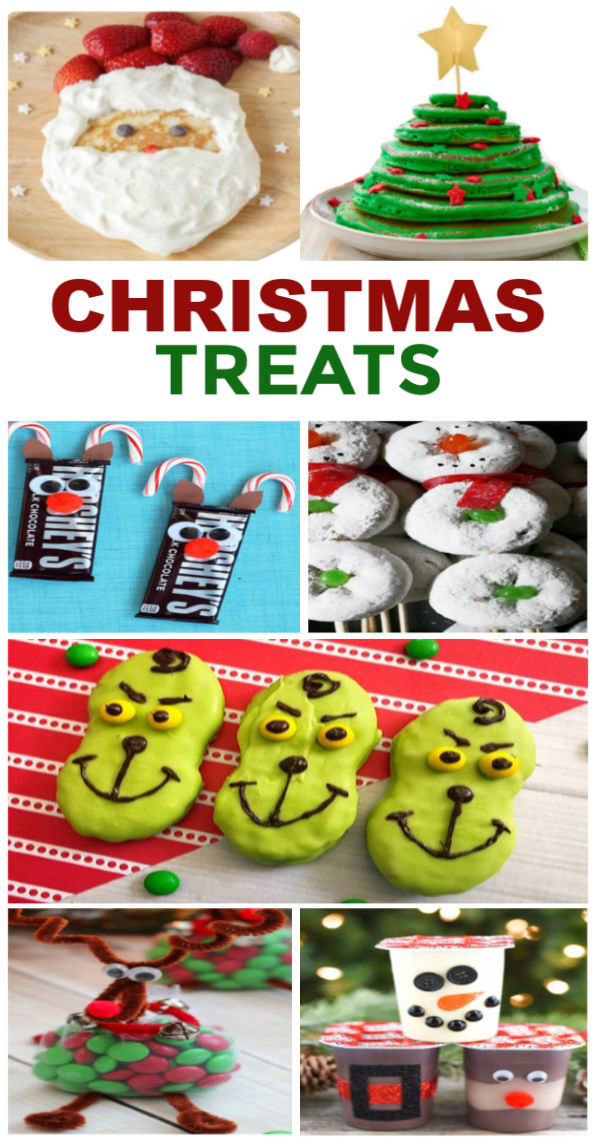 Fun & creative holiday food ideas for kids!  These treats are great for class parties, and the breakfast ideas are too cute! #holidayfood #holidayfoodideas #holidayfoodforkids #holidayfoodchristmas #holidayparty #holidaypartyfood #christmaspartyfood #christmasfood #christmastreats #christmastreatsforschoolparties #funfoodideasforkids #growingajeweledrose #activitiesforkids!