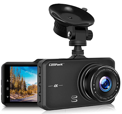 Campark DC10 Dash Cam 4K UHD DVR Driving Recorder Camera for Cars Dashboard