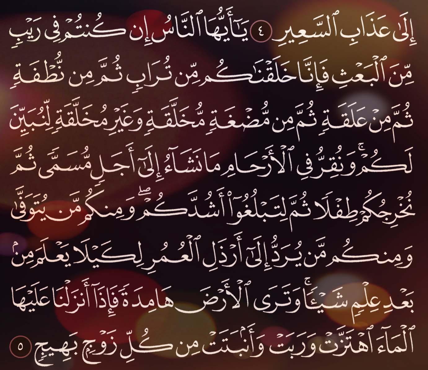شرح وتفسير سورة الحج Surah Al Hajj ( من الآية 1 إلى الاية 10 )
