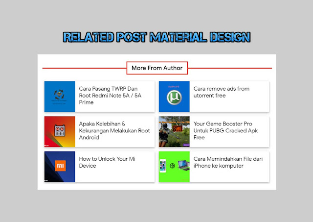 Cara Membuat Related Post Material Design di Blogger