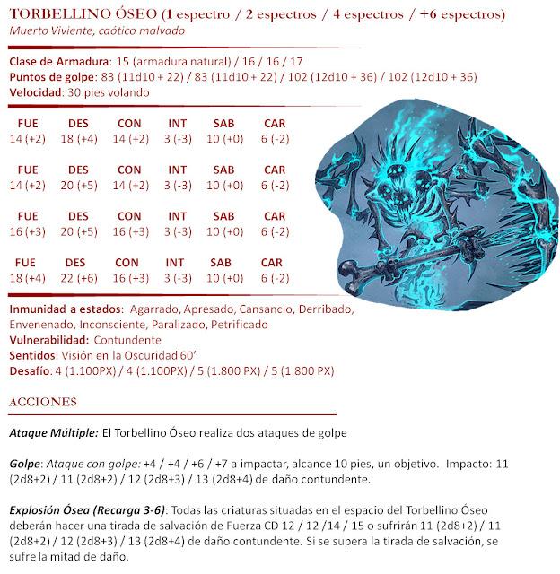 Monstruos D&D 5ª Edición - Torbellino Óseo