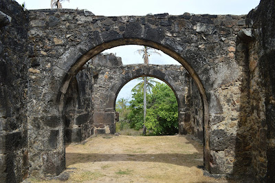 Arcadas da Castelo Garcia D'Avila. Um castelo no Brasil