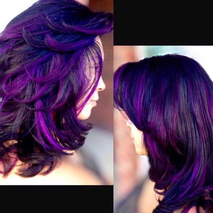 Excellent Black Amp Purple Hairstyles A Gorgeous Combination Short Hairstyles Gunalazisus