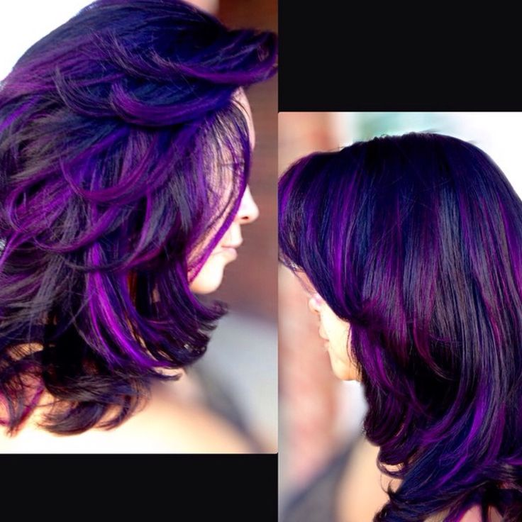 Miraculous Black Amp Purple Hairstyles A Gorgeous Combination Hairstyles For Women Draintrainus