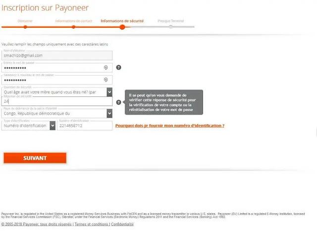 خطوات التسجيل في Payoneer مجانًا