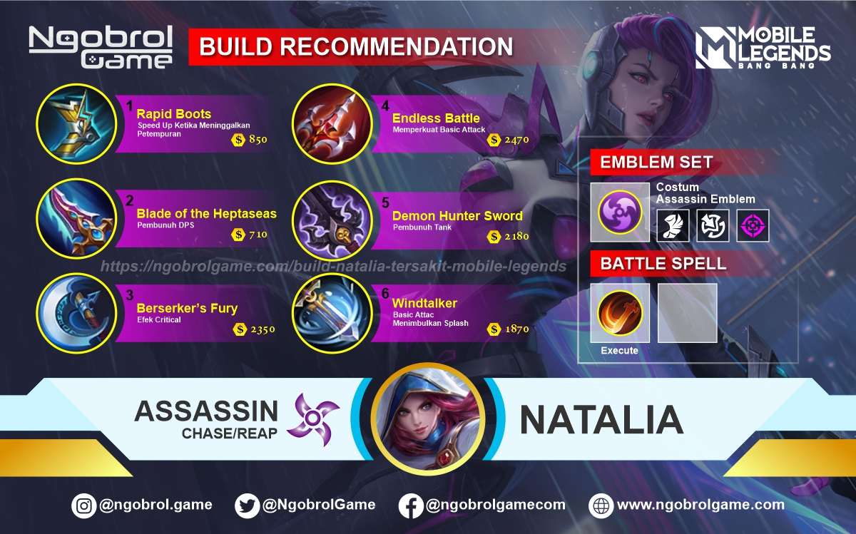 Build Natalia Savage Mobile Legends