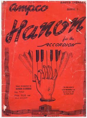 Hanon for the Accordion Book  تحميل كتاب تعليم آلة اكورديون