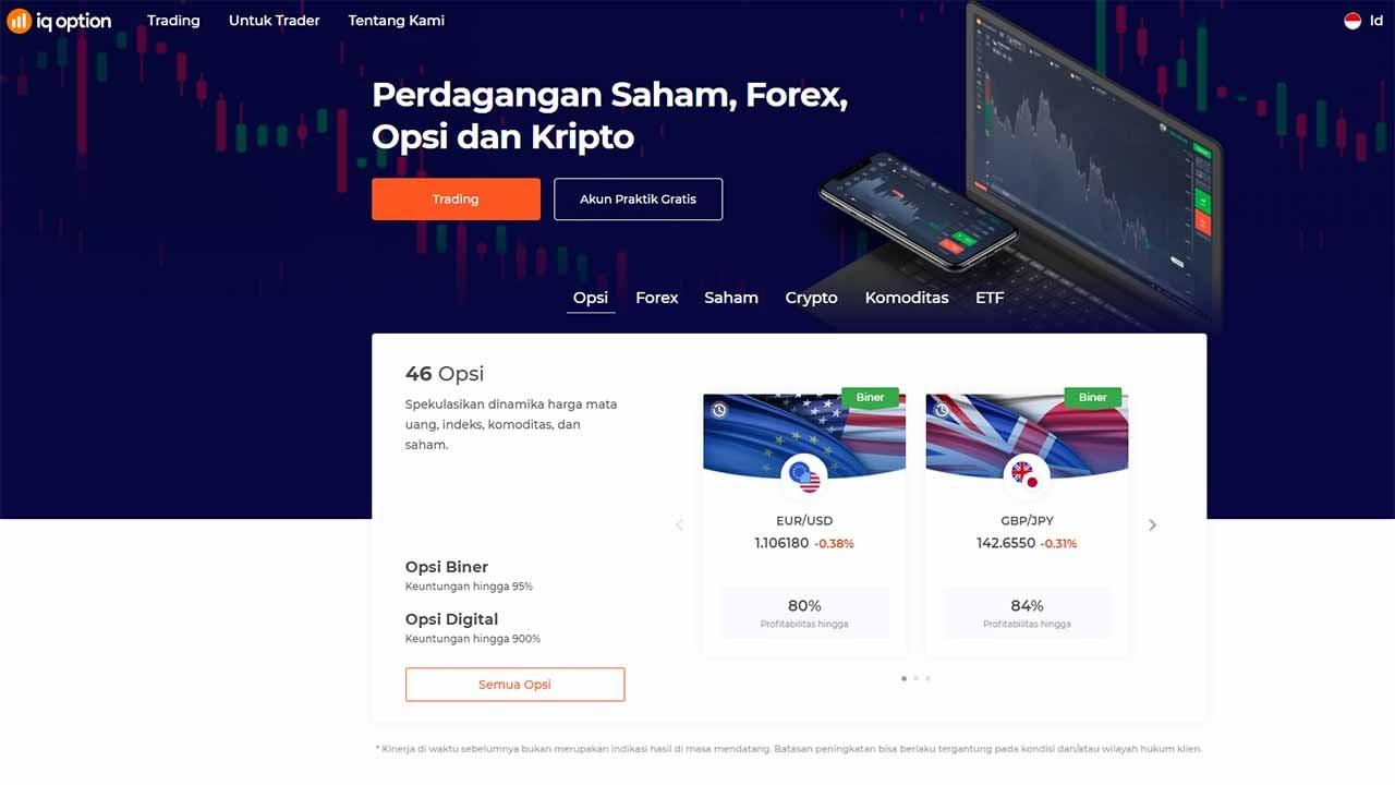 Aplikasi trading terbaik Indonesia - IQ Option app