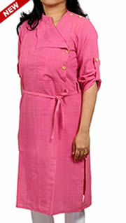 http://www.indianconceptsonline.com/product/125696/feminine-pink-khadi-cotton-executive-look-corporate-kurta/