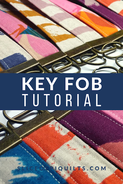 Key fob tutorial for making DIY key chains as gifts