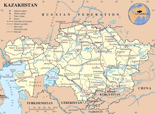 Republic Of Kazakhstan Map HD World Maps - Kazakhstan map hd
