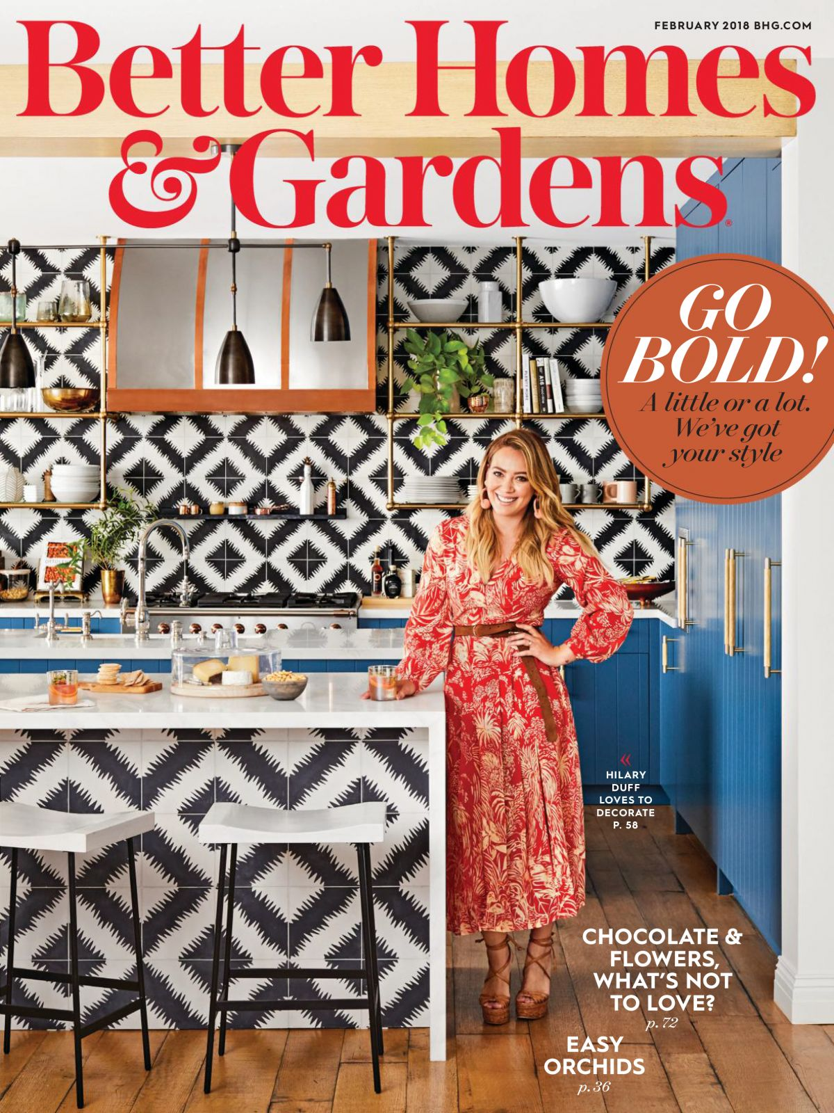 Hilary Duff In Better Home And Gardens Magazine February 2018