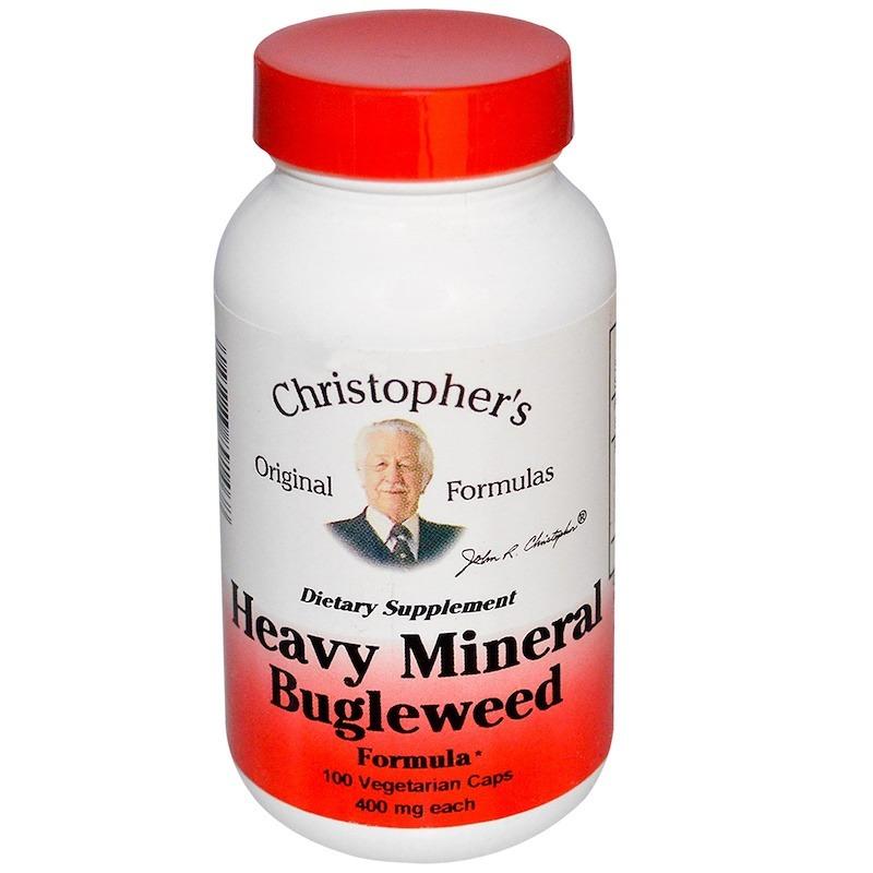 Christopher's Original Formulas, Heavy Mineral с зюзником, 400 мг, 100 растительных капсул