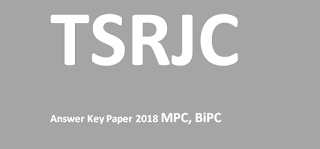 TSRJC 2018 MPC Answer Key Paper, Sakshi, Eenadu  & Question Paper 2018