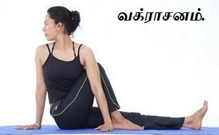 வக்ராசனம் - Vakrasanam.