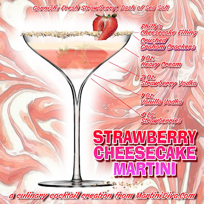 Strawberry Cheesecake Martini Recipe with ingredients & instructions