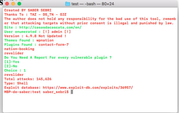 Wpscvn : Wpscvn Is A Tool For Pentesters, Website Owner To Test If Their Websites Had Some Vulnerable Plugins Or Themes