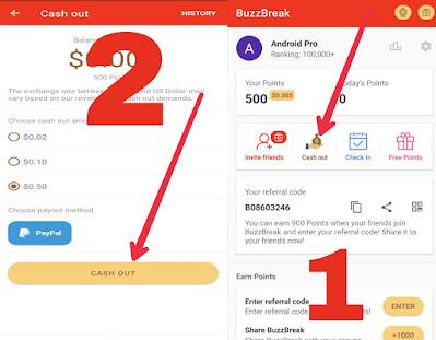 شرح تطبيق buzebreak للربح من الأنترنت ويدعم البايبال