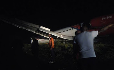 Dana Air Plane Skids Off Runway In Port Harcourt