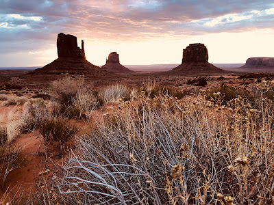 View from Wildcat Trail at sunrise, Monument Valley.